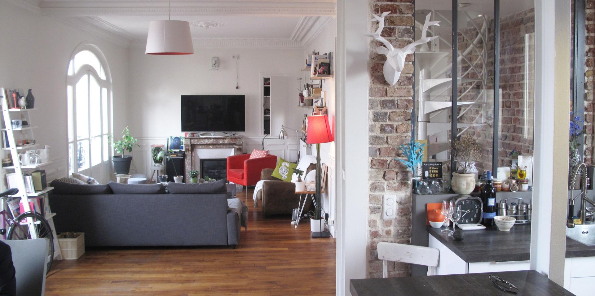 Loft en duplex, hypercentre Aubervilliers